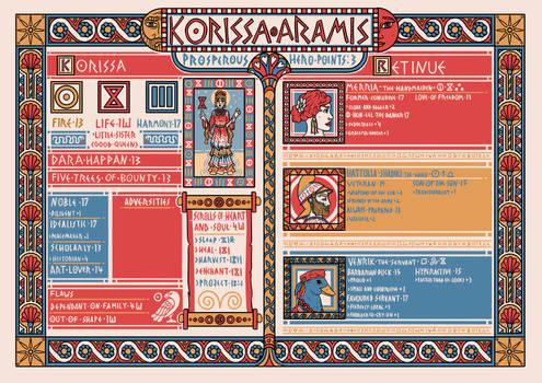Korissa Aramis - Character Sheet