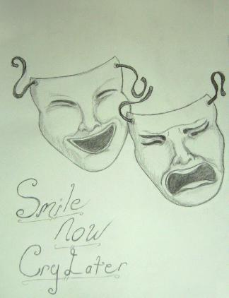 Laugh Now Cry Later Faces Drawings 69638 Loadtve