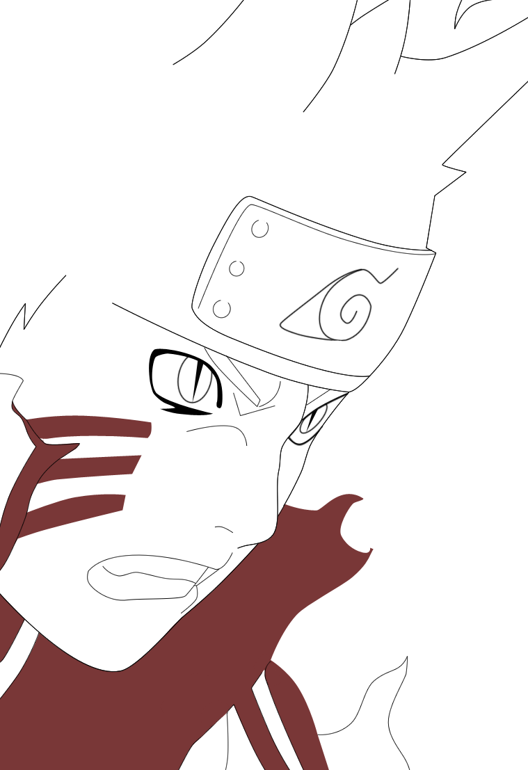 how to draw naruto bijuu mode easy