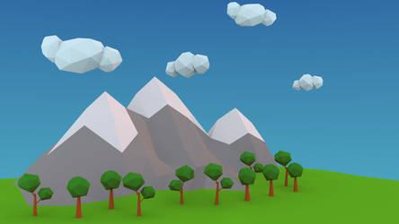 Low Poly Mountains Desktop