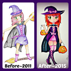 Purple Witch: Before and After