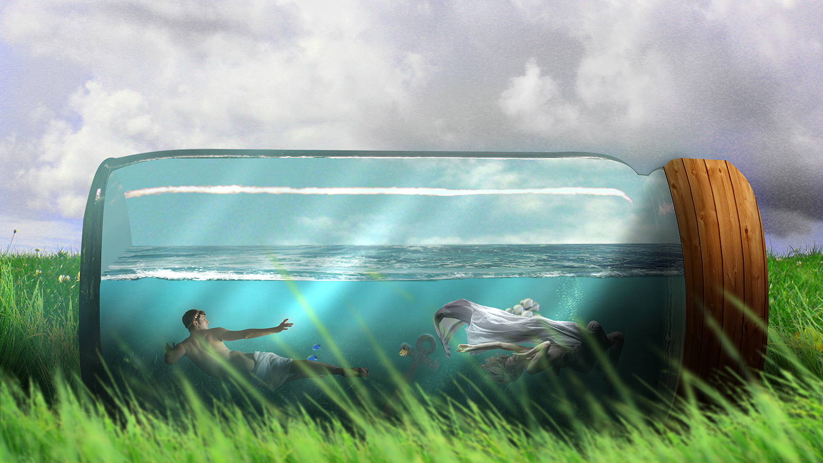 Two Lost Souls Swimming In A Fish Bowl By Iagolts On Deviantart