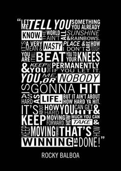 Rocky Balboa Typography Poster by Adam Armstrong