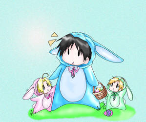 Easter Roy Ed Al by roy-mustang