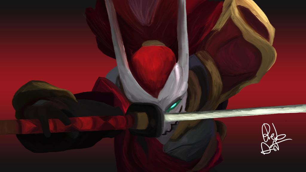 Bloodmoon Yasuo Fanart by Re-Born93