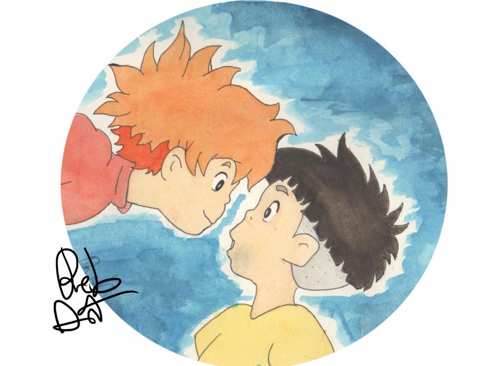Ponyo Watercolor by Re-Born93