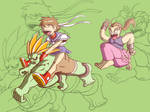 Blanka, Sakura and Dan