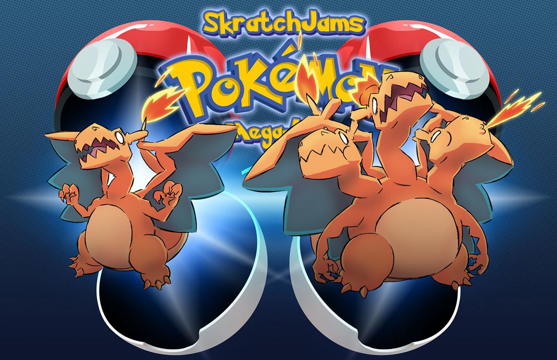 Pokemon Charizard Mega Evolution Drawing Mega charizard x3 by dmitriyu