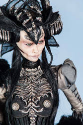 Obsidian face closeup by KamillaM