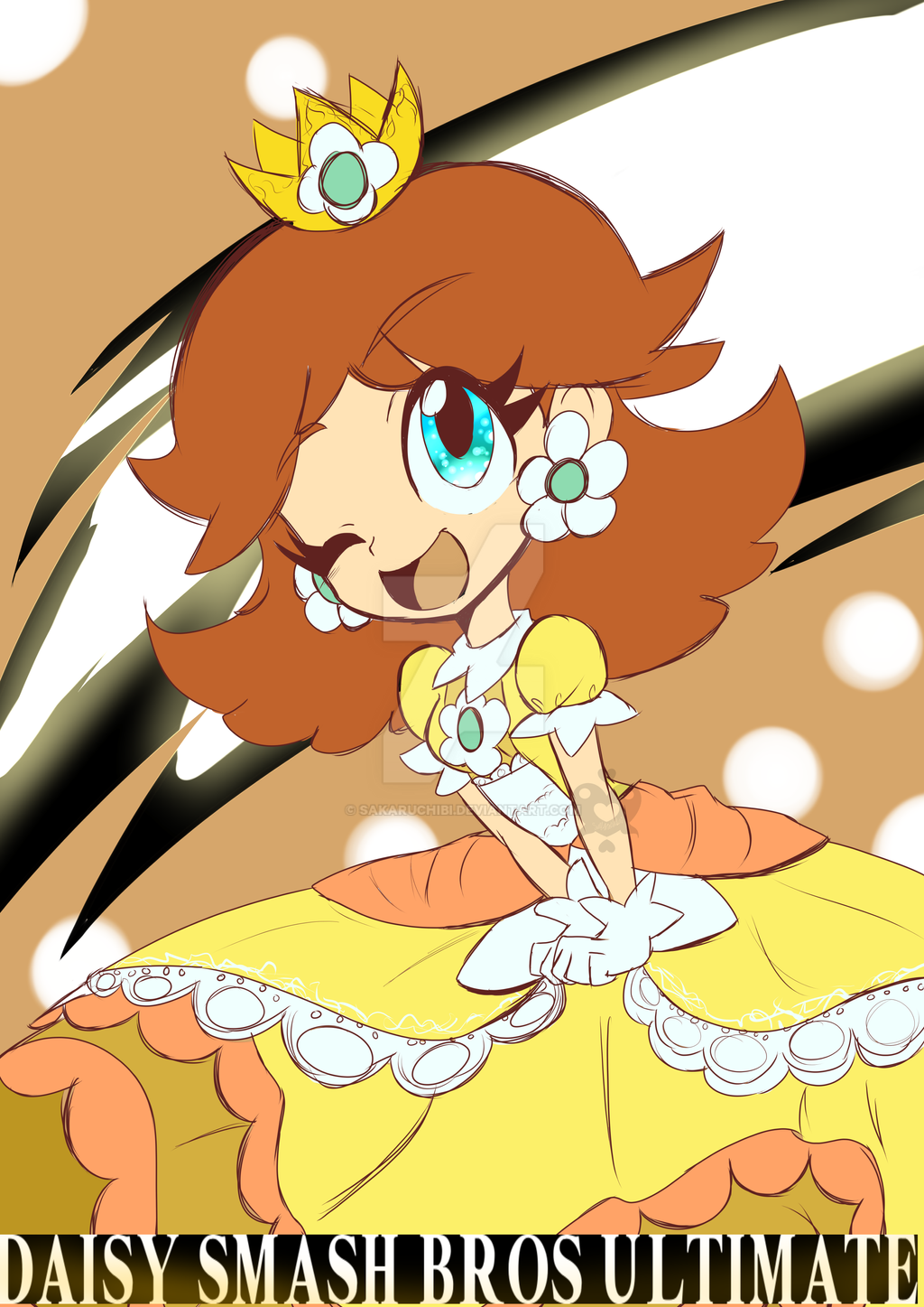 Daisy Smash Bros Ultimate by sakaruchibi