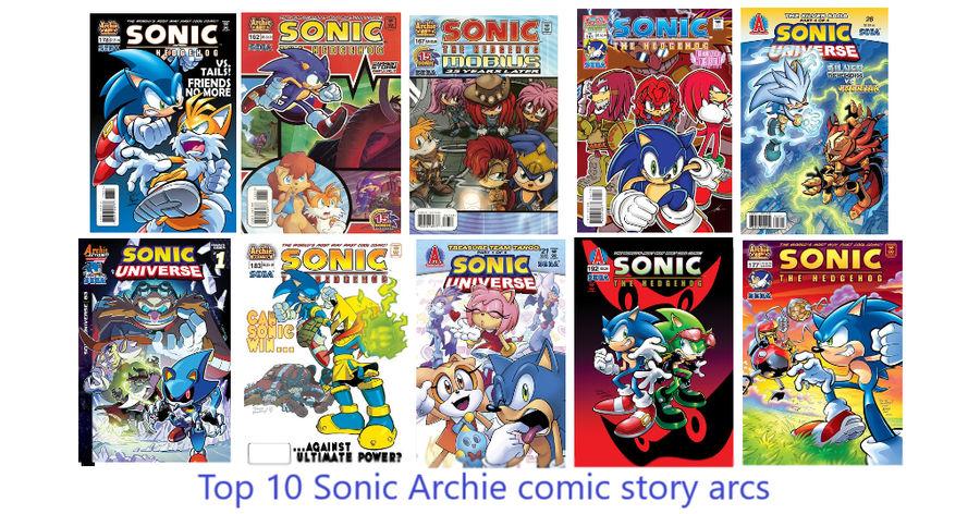 Top Ten Best Sonic Archie Comic Story Arcs By Supercrashthehedgeho
