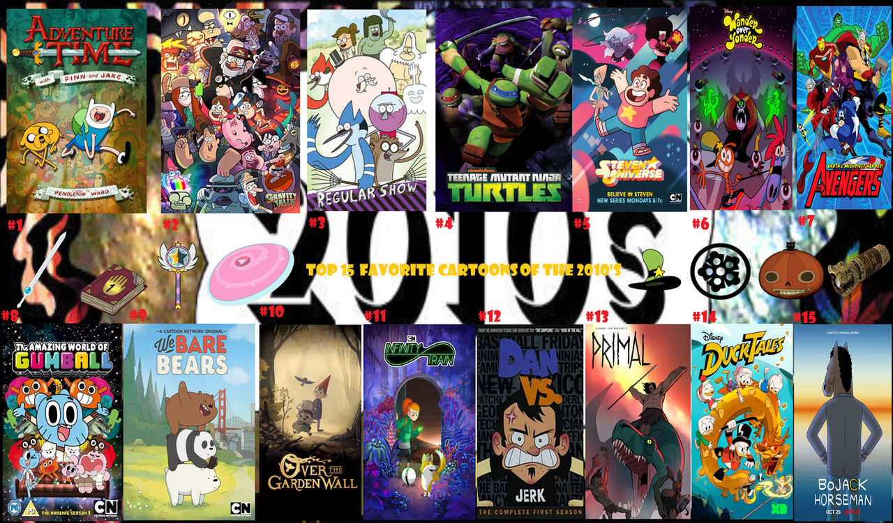 Top 15 Favorite Cartoons Of The 2010 S By Supercrashthehedgeho On