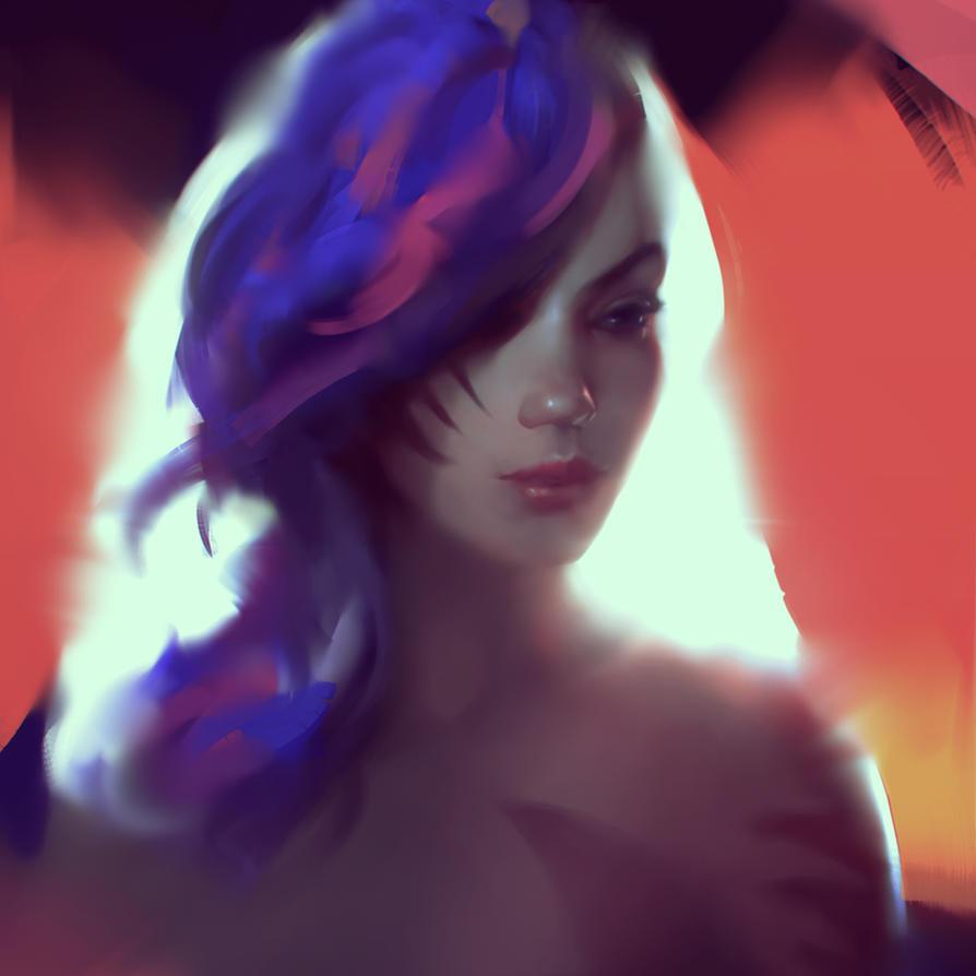 Glitch Girl by WojciechFus
