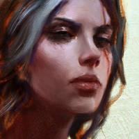 Ciri Close-Up by WojtekFus