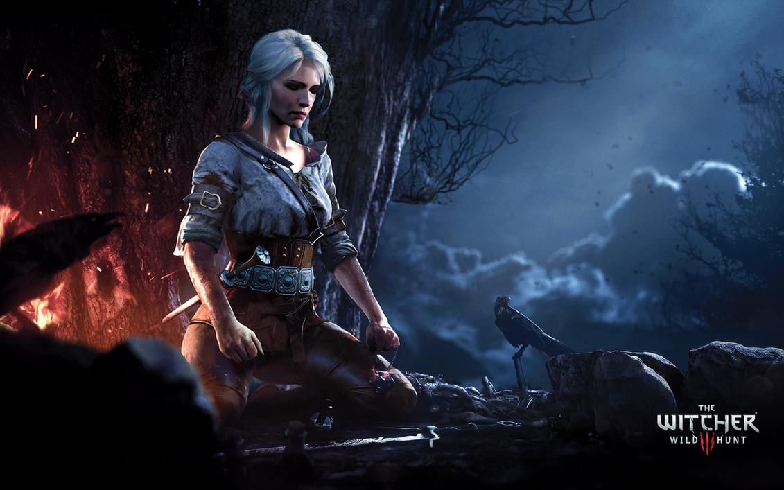 Ciri Meditating - The Witcher 3: Wild Hunt by WojciechFus