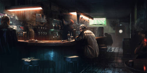 Jimmy's Bar - Detroit: Become Human by WojtekFus