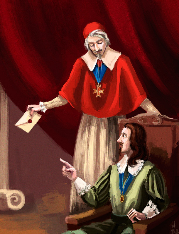 Louis XIII and Richelieu by Natalliel