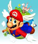 Super Mario 64 Coverart Recreation! [Blender]