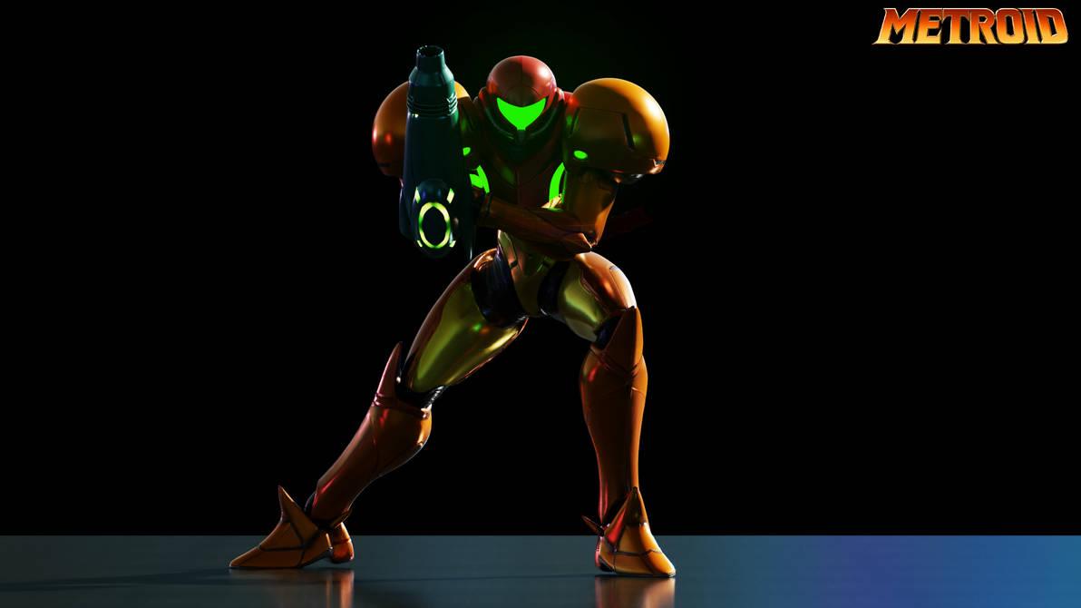 Metroid's Samus Aran Render! [Blender]