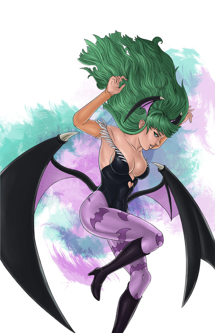 Morrigan's Descent by JaeBlaze06