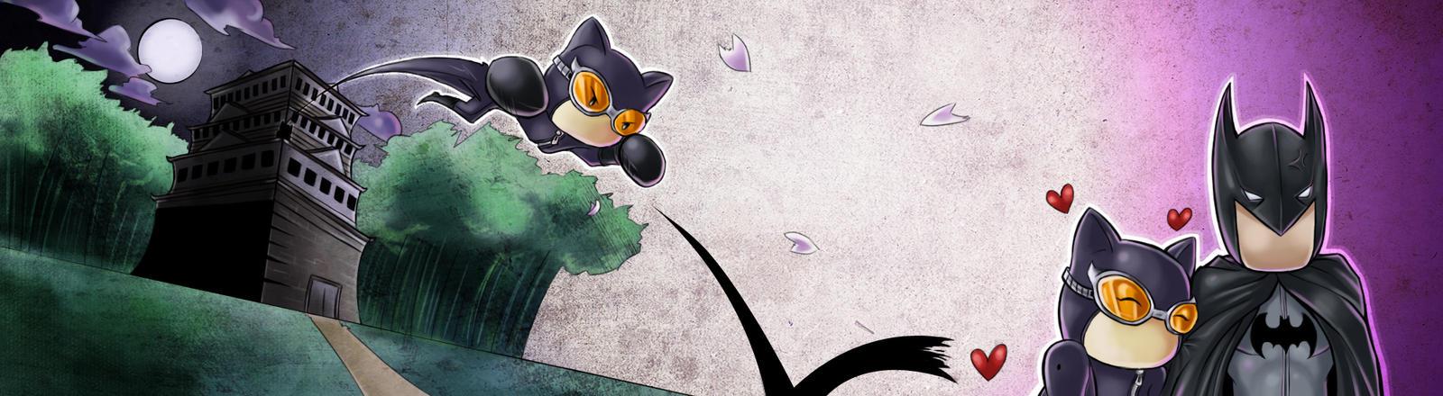 Ninja Kitty Cuddle by JaeBlaze06