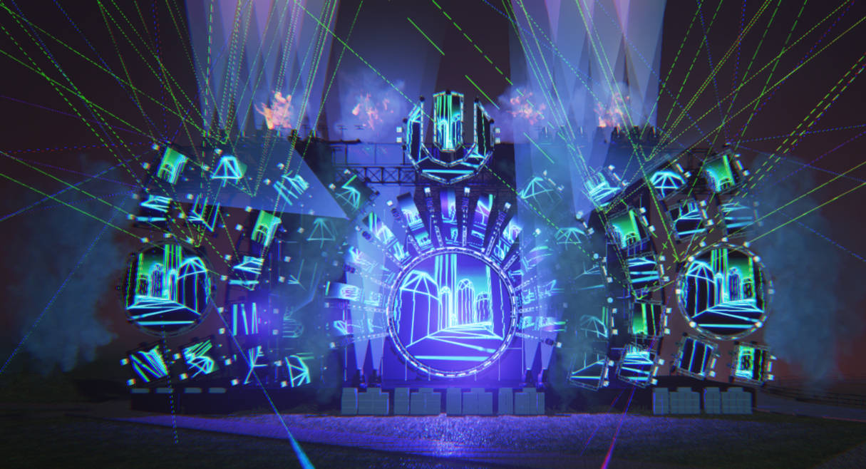 Ultra Music Festival Mainstage in Unreal Engine 4 by