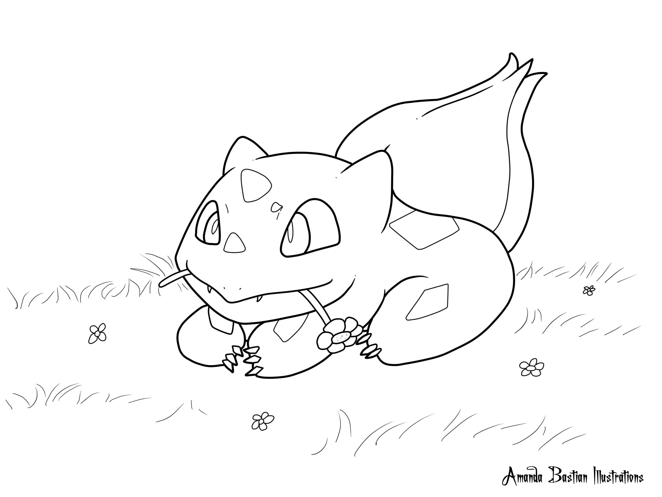 Bulbasaur Coloring Page By Damien Shade On Deviantart