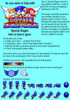 Visual Checklist for Sonic 2 Special Stages