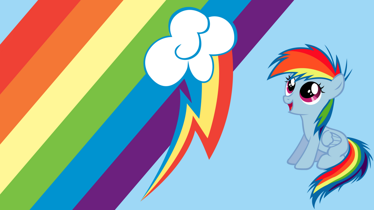 - Rainbow Dash Filly Wallpaper - by Ponyphile on DeviantArt