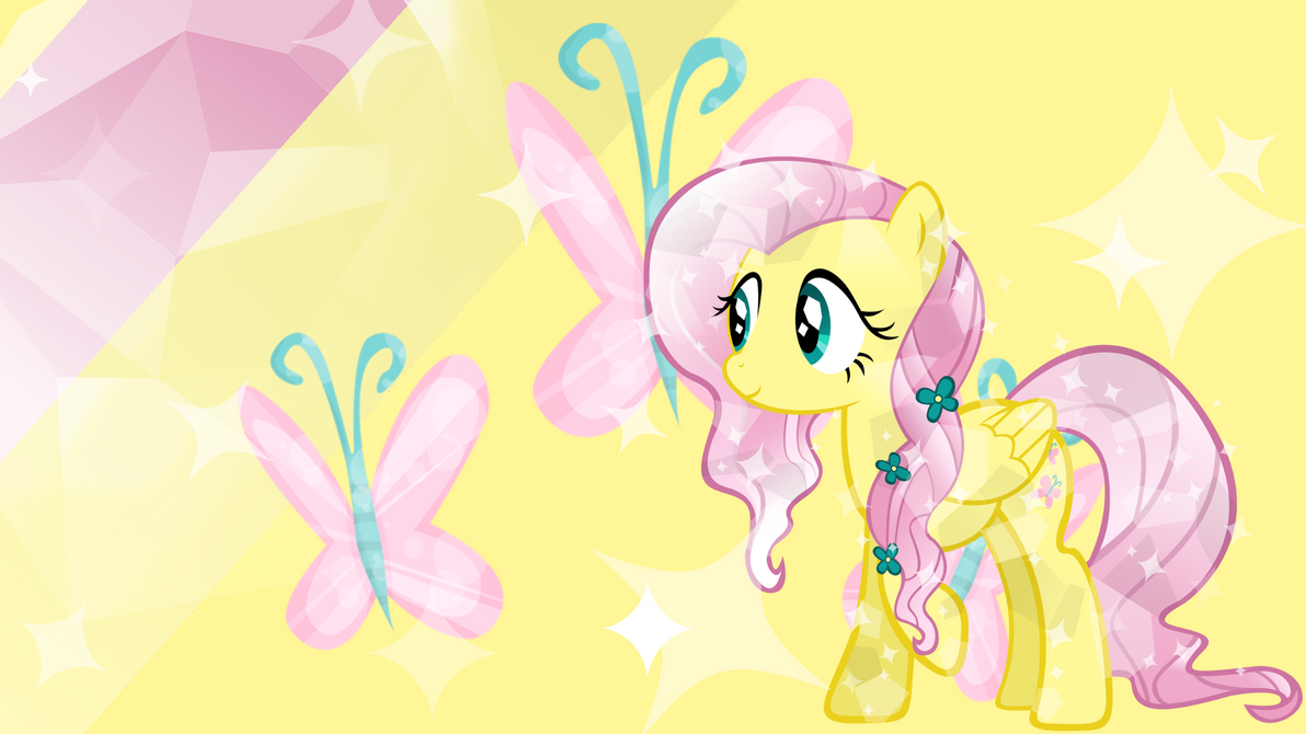 crystal fluttershy wallpaper by ponyphile on deviantart