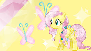- Crystal Fluttershy Wallpaper - by Ponyphile