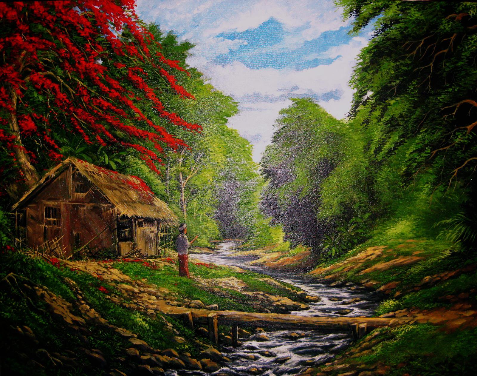 Gambar Wallpaper Pemandangan Alam Indah Kumpulan Wallpaper #7: sungai pegunungan by kongstones