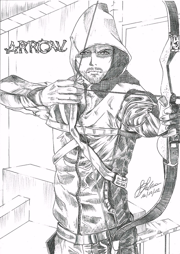 Mobile Cw Green Arrow Coloring Pages