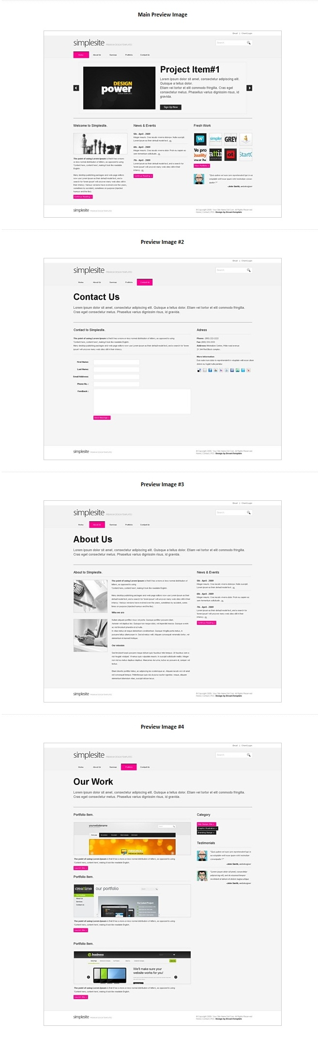 SimpleSite - HTML Template by bej4
