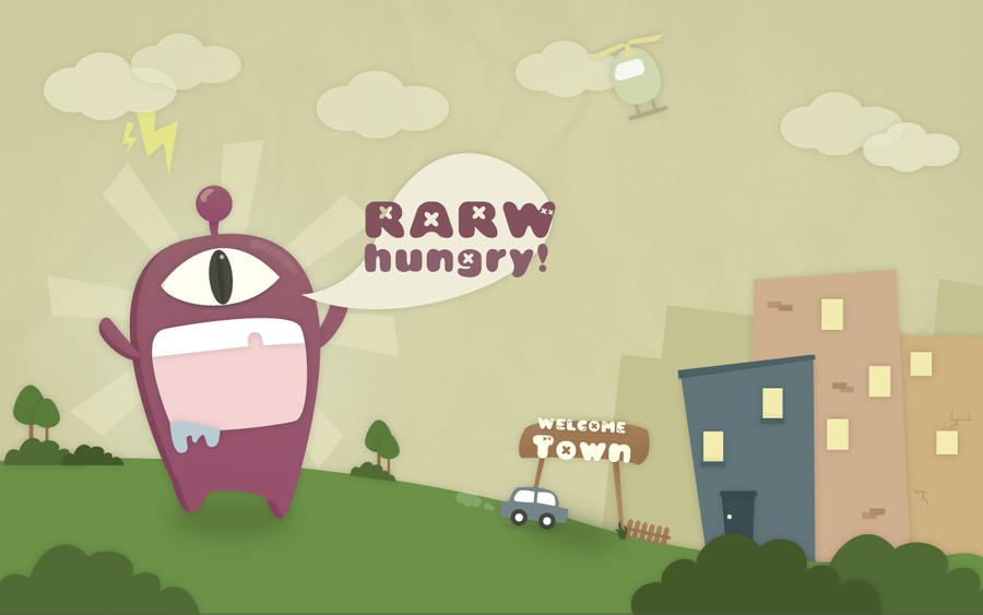 rarw- i m hungry by piyodamari1018