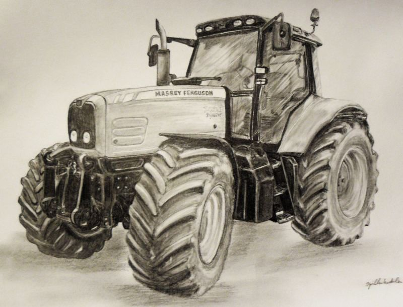 How To Draw Tractor On Cake