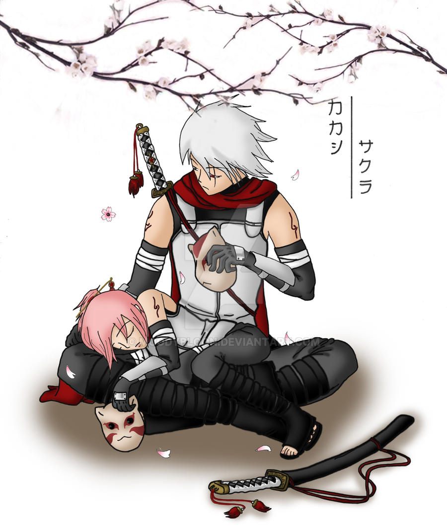 Kakashi x Sakura Anbu by MoodyBloon on DeviantArt