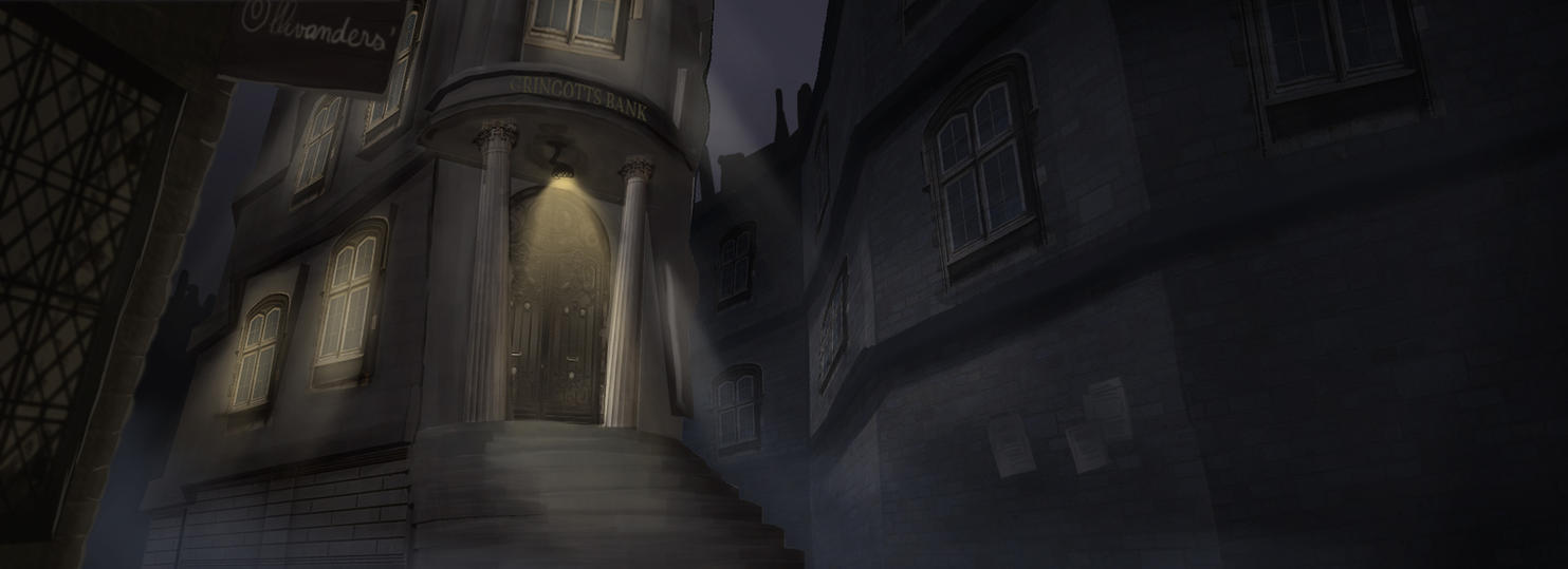 Matte Painting - Gringotts by MoodyBloon