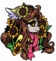 Sunflowers  Portrait (Gift) by BLxINK