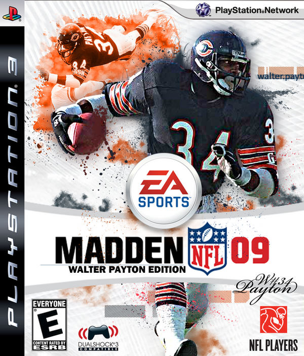 walter payton madden 09 cover by zshadowzzgfx on deviantart
