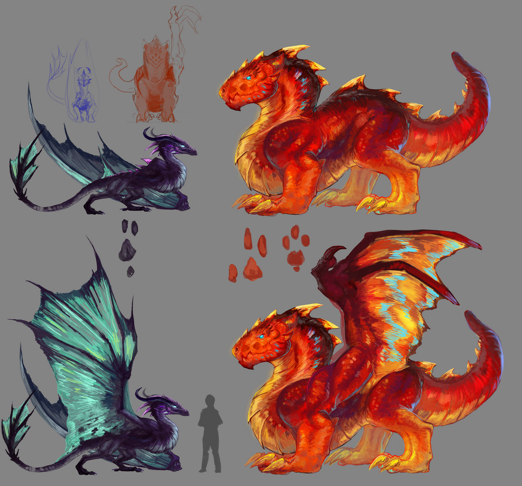 Dragons by Pennawings