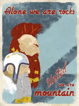 Dwarf Propaganda Poster 'United'
