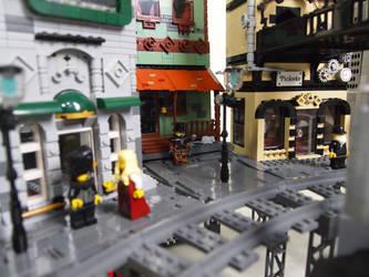 LEGO. Steampunk Moon City by DwalinF