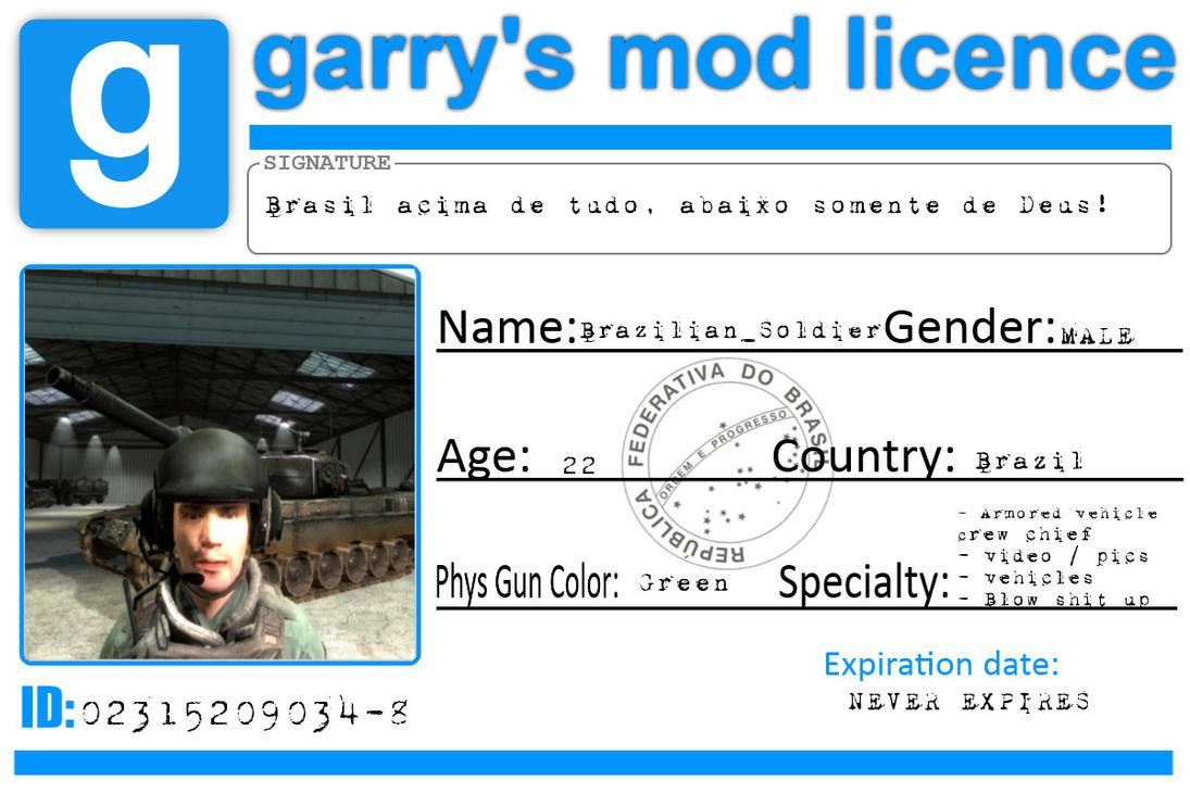 Garry S Mod Licence By Brazilian Soldier On Deviantart