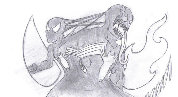 Spidey-Venom by edwpumpkinking