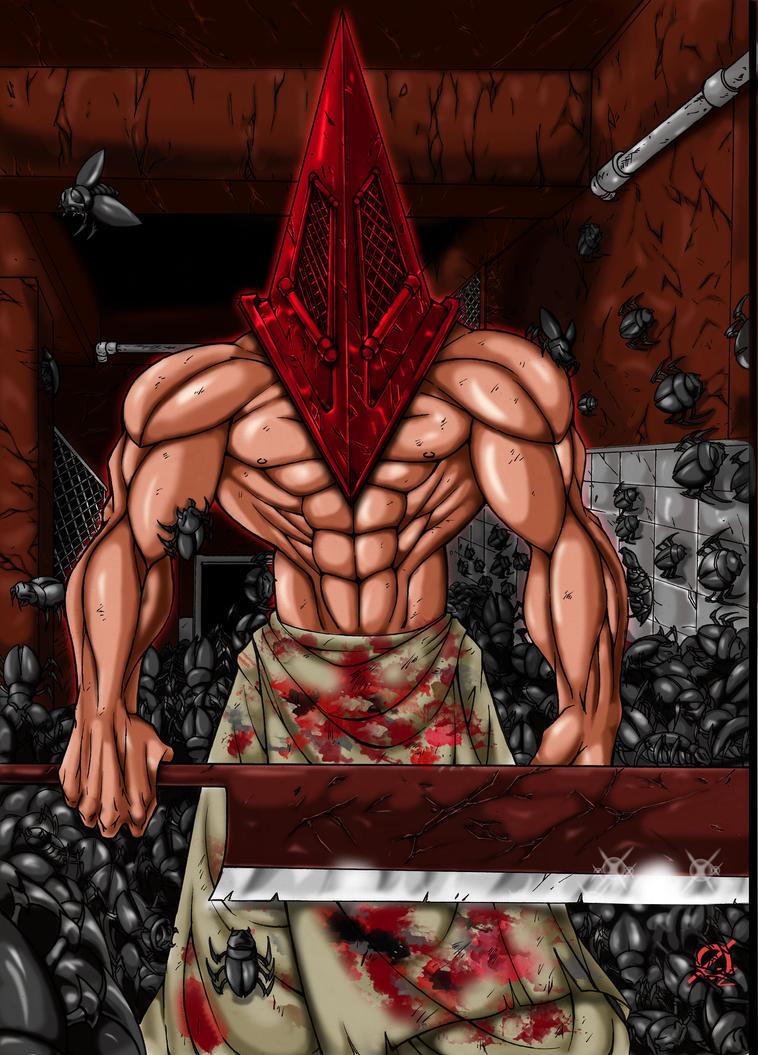Pyramid Head colored by Osmar-Shotgun