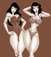 Pin up twins by Osmar-Shotgun
