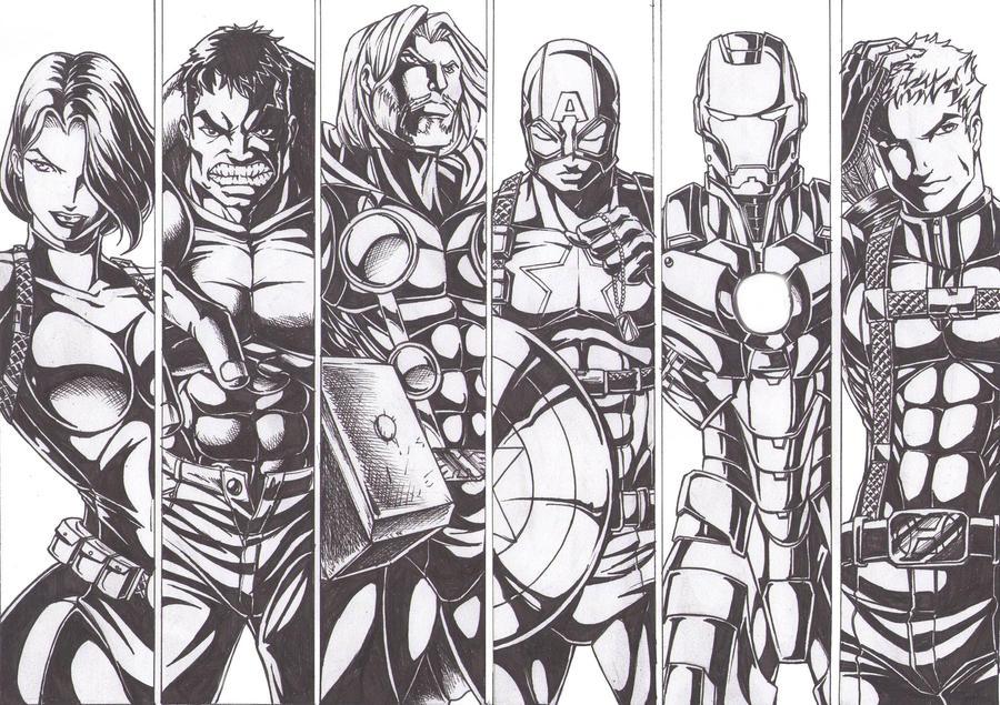 The Avengers Ink By Osmar-Shotgun On DeviantArt