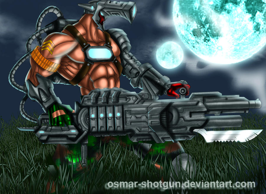 Cannon Soldier by Osmar-Shotgun