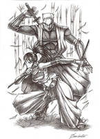 Rikimaru and Ayame by Osmar-Shotgun